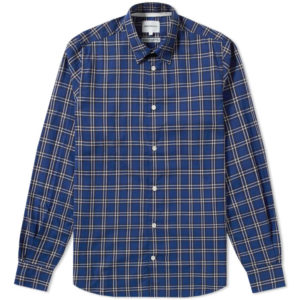 HANS SUMMER CHECK - DARK NAVY