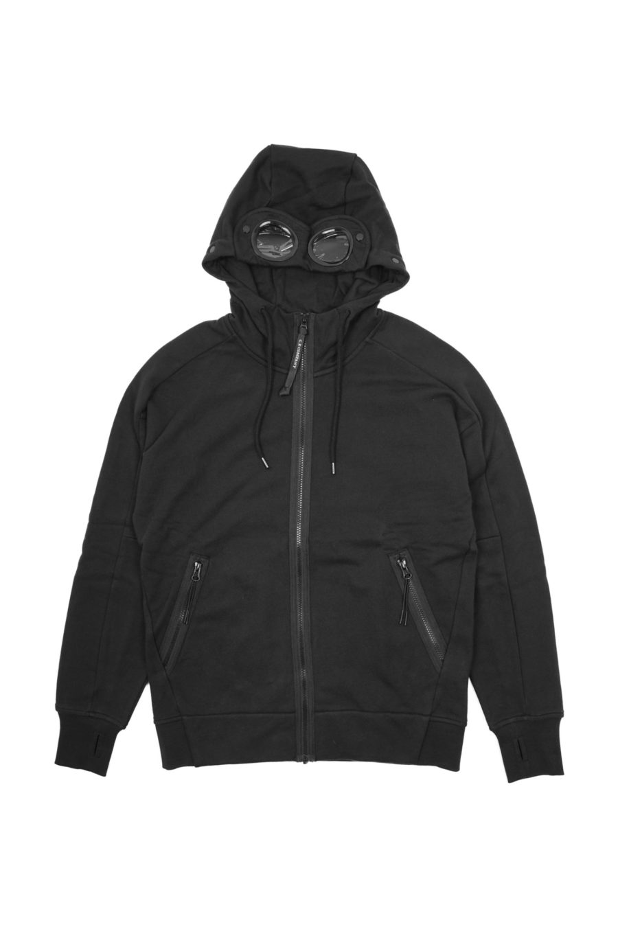 DIAGONAL FLEECE GOGGLE HOOD SWEATER